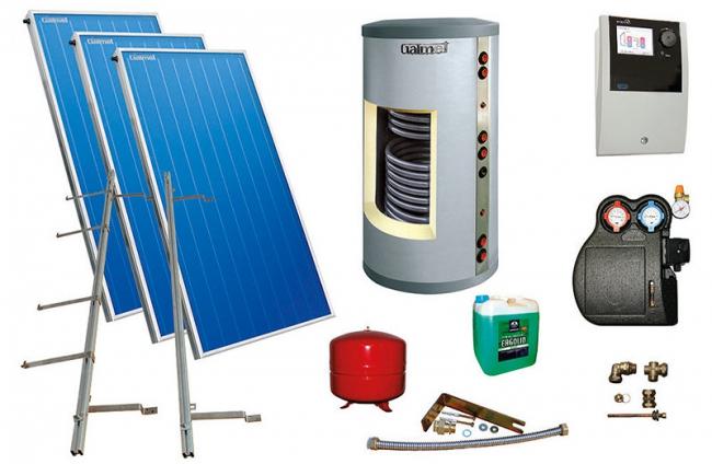 система солнечных коллекторов